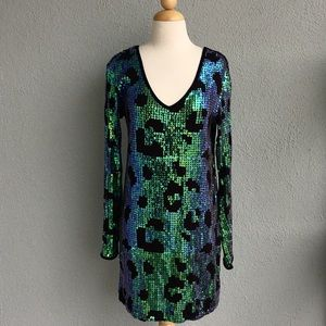 SILENCE & NOISE Sequin Dress Size S